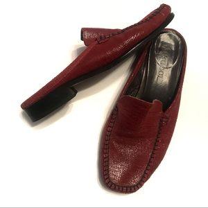 Sesto Meucci Shoes - Sesto Meucci Red Leather Mules Size 7